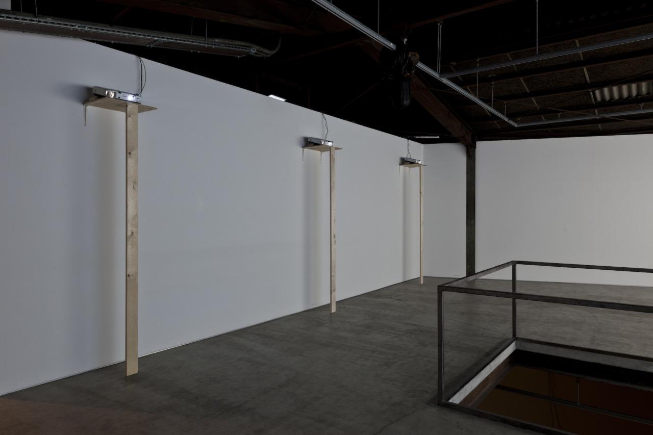 """Caratulas Gear Fit 2 Porno installetion view in the exhibition """"scales"""" at kodama"""